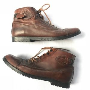 Vtg 90s laceup brown boots 7 leather